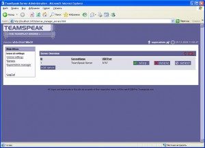 Установка TeamSpeak 2 Server