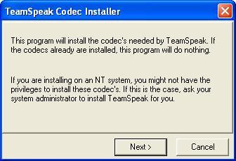 Установка TeamSpeak 2 Client