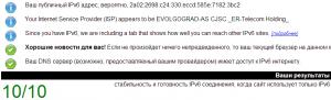 Результаты IPv6